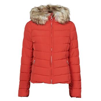 Ruhák Női Steppelt kabátok Only ONLNEWELLAN Piros