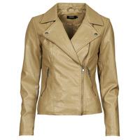 Ruhák Női Bőrkabátok / műbőr kabátok Only ONLMELISA Bézs
