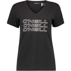 Ruhák Női Rövid ujjú pólók O'neill Triple Stack Fekete