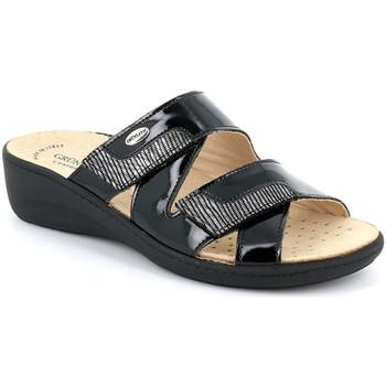 Cipők Női Papucsok Grunland CE0726 Fekete