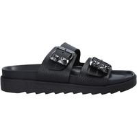 Cipők Női Papucsok Apepazza S1SOFTWLK03/LEA Fekete