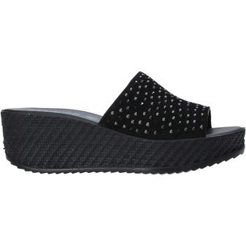 Cipők Női Papucsok Enval 7280000 Fekete