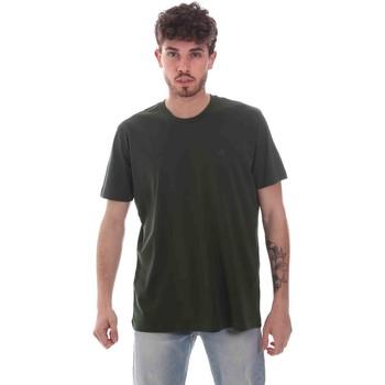 Ruhák Férfi Rövid ujjú pólók Key Up 2M915 0001 Zöld