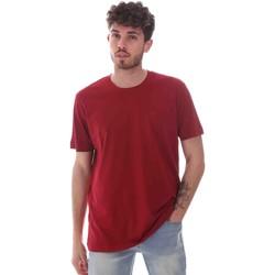 Ruhák Férfi Rövid ujjú pólók Key Up 2M915 0001 Piros
