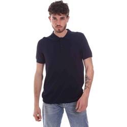 Ruhák Férfi Rövid ujjú galléros pólók Gaudi 111GU53015 Kék