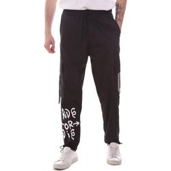 Ruhák Férfi Oldalzsebes nadrágok Disclaimer 21EDS50560 Fekete