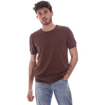 Ruhák Férfi Rövid ujjú pólók Gaudi 111GU53004 Barna