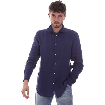 Ruhák Férfi Hosszú ujjú ingek Gaudi 111GU45005 Kék
