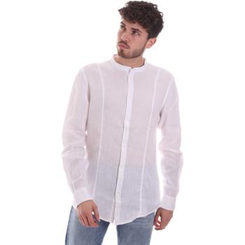 Ruhák Férfi Hosszú ujjú ingek Gaudi 111GU45006 Fehér