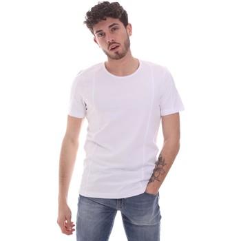 Ruhák Férfi Rövid ujjú pólók Gaudi 111GU64048 Fehér