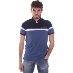 Ruhák Férfi Rövid ujjú galléros pólók Gaudi 111GU64104 Kék