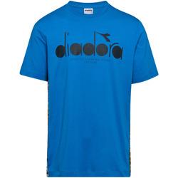 Ruhák Férfi Rövid ujjú pólók Diadora 502176630 Kék