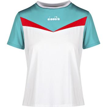 Ruhák Női Rövid ujjú pólók Diadora 102175659 Fehér