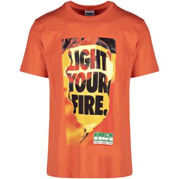 Ruhák Férfi Rövid ujjú pólók Diadora 502175837 Narancssárga