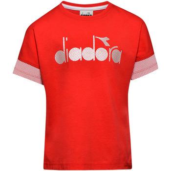 Ruhák Gyerek Rövid ujjú pólók Diadora 102175914 Piros