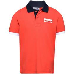Ruhák Gyerek Rövid ujjú galléros pólók Diadora 102175907 Piros