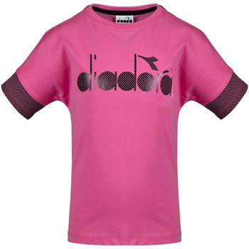 Ruhák Gyerek Rövid ujjú pólók Diadora 102175914 Rózsaszín