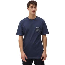 Ruhák Férfi Rövid ujjú pólók Dickies DK0A4X9NNV01 Kék