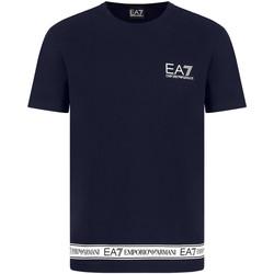 Ruhák Férfi Rövid ujjú pólók Ea7 Emporio Armani 3KPT05 PJ03Z Kék