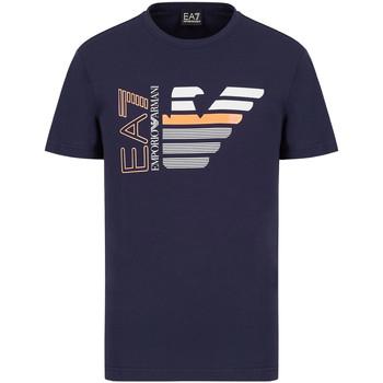 Ruhák Férfi Rövid ujjú pólók Ea7 Emporio Armani 3KPT22 PJ6EZ Kék