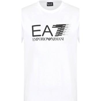 Ruhák Férfi Rövid ujjú pólók Ea7 Emporio Armani 3KPT39 PJ02Z Fehér