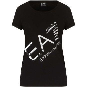 Ruhák Női Rövid ujjú pólók Ea7 Emporio Armani 3KTT28 TJ12Z Fekete