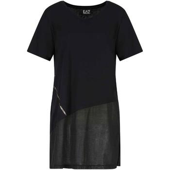 Ruhák Női Rövid ujjú pólók Ea7 Emporio Armani 3KTT36 TJ4PZ Fekete