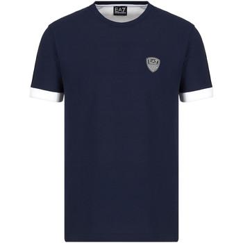 Ruhák Férfi Rövid ujjú pólók Ea7 Emporio Armani 3KPT56 PJ4MZ Kék