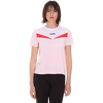 Ruhák Női Rövid ujjú pólók Diadora 102175659 Rózsaszín