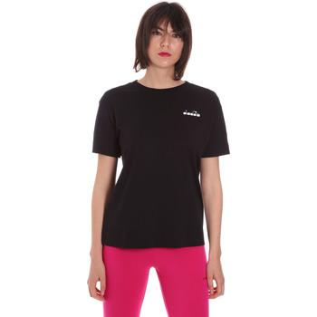 Ruhák Női Rövid ujjú pólók Diadora 102175873 Fekete