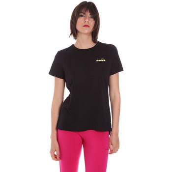 Ruhák Női Rövid ujjú pólók Diadora 102175882 Fekete