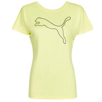 Ruhák Női Rövid ujjú pólók Puma RECYCL JERSY CAT TEE Citromsárga
