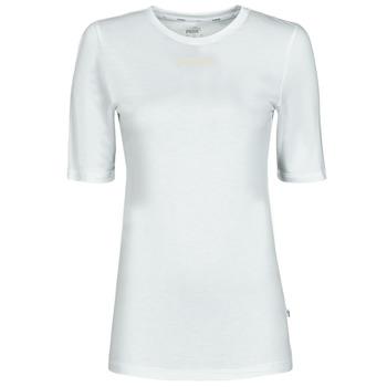 Ruhák Női Rövid ujjú pólók Puma MBASIC TEE Fehér
