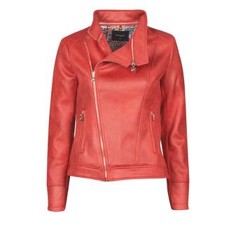 Ruhák Női Bőrkabátok / műbőr kabátok Desigual MARBLE Piros