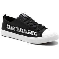Cipők Férfi Rövid szárú edzőcipők Big Star EE174069 Fekete