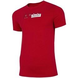 Ruhák Férfi Rövid ujjú pólók 4F TSM021 Piros