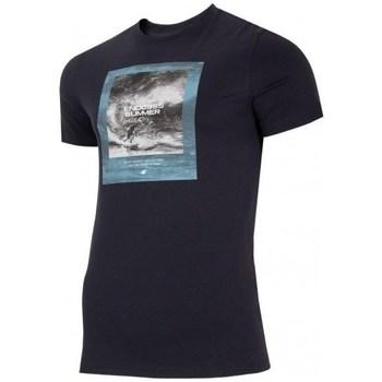 Ruhák Férfi Rövid ujjú pólók 4F TSM028 Fekete