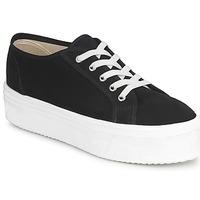 Cipők Női Rövid szárú edzőcipők Yurban SUPERTELA Fekete