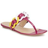 Cipők Női Lábujjközös papucsok Versus by Versace FSD364C Rózsaszín / Fehér / Citromsárga