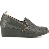 Cipők Női Mokkaszínek Grunland SC2057 Fekete