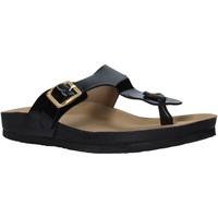 Cipők Női Lábujjközös papucsok Docksteps DSE105459 Fekete