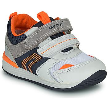 Cipők Fiú Rövid szárú edzőcipők Geox B RISHON Fehér