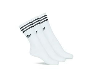 Fehérnemű High socks adidas Originals SOLID CREW SOCK X3 Fehér