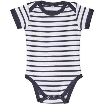 Ruhák Gyerek Együttes Sols Body bebé a rayas Azul