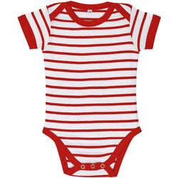 Ruhák Gyerek Együttes Sols Body bebé a rayas Rojo