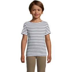 Ruhák Gyerek Rövid ujjú pólók Sols Camiseta niño cuello redondo Azul