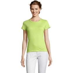 Ruhák Női Rövid ujjú pólók Sols Miss camiseta manga corta mujer Verde