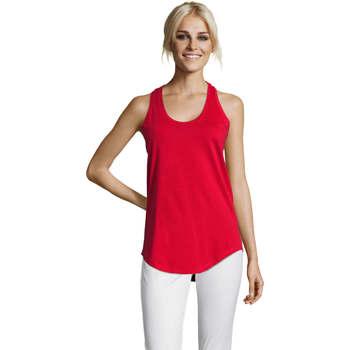 Ruhák Női Trikók / Ujjatlan pólók Sols Moka camiseta mujer sin mangas Rojo