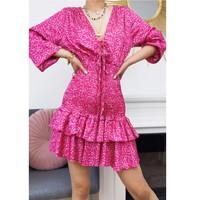 Ruhák Női Rövid ruhák Fashion brands 22974-FUSHIA Fukszia