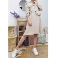 Ruhák Női Rövid ruhák Fashion brands CD2293-BEIGE Bézs